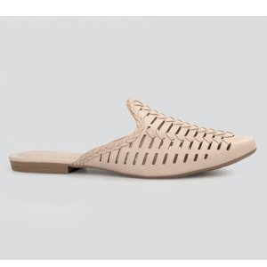 Mule Dakota  Laser Cut Nude