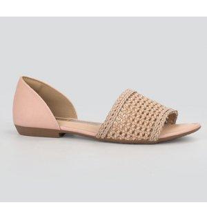 Sandália Dakota  Rasteira Nude