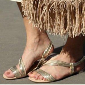 Sandália Dakota  Rasteira Dourada