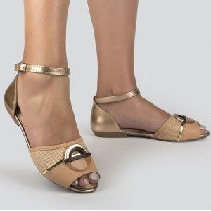 Sandália Dakota  Rasteira Bege