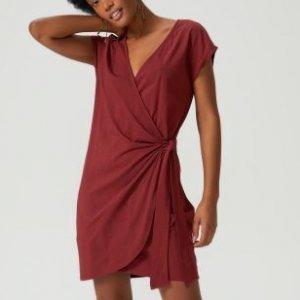 Vestido Wrap Malha