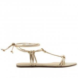 Sandália Bico Folha Dourada | Anacapri