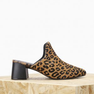 Babouch Alme Isabella Couro Leopard   Outstore