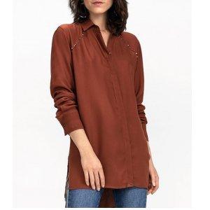 Camisa Mullet Em Tecido De Viscose