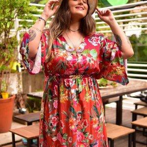 Vestido Celine Floral - Pp Rosa
