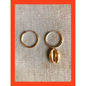 Argola Gold Coquillage - U Dourado