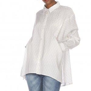 Camisa Feminina Oversized Abertura Lateral