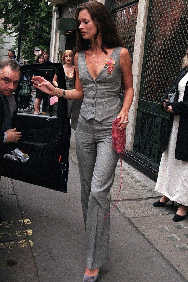 Kate Moss - tendências - colete - verão - street style