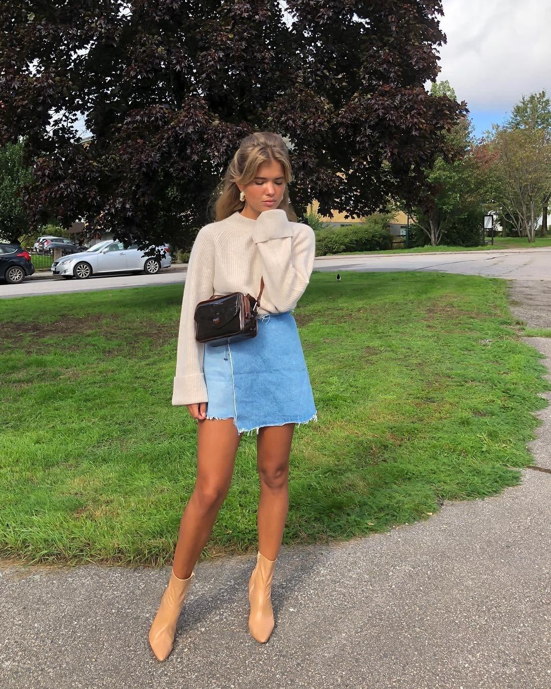 It girls - Saia jeans - Saia jeans - Verão - Street Style
