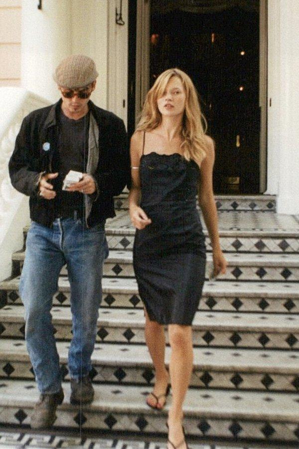 Kate Moss - tendências - flip flop - inverno - street style