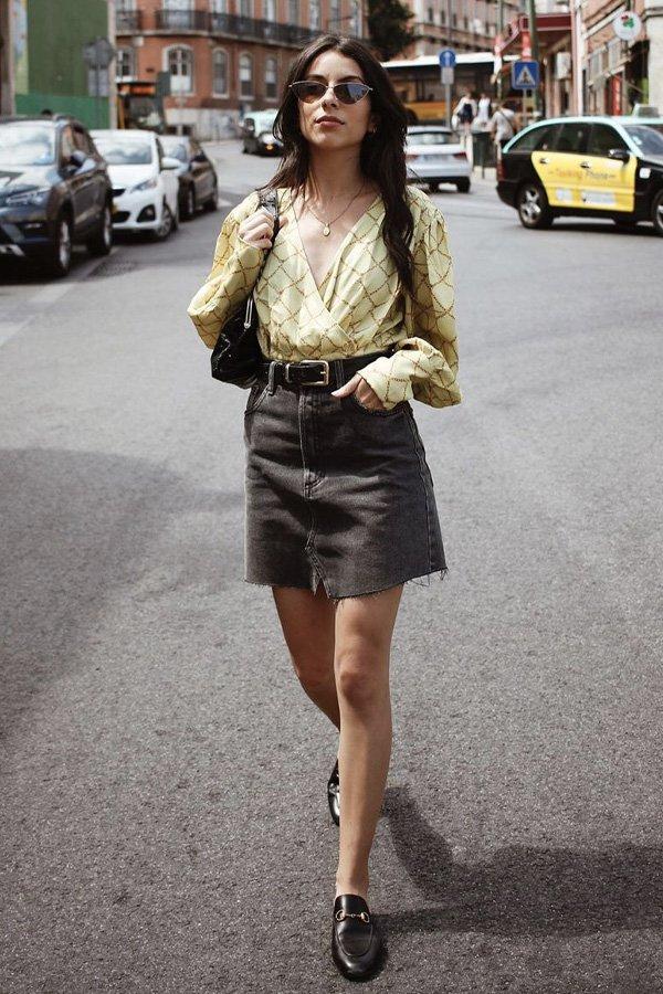 helena martins - saia jeans - saia j - verão - street style