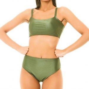 Biquini Hotpant Textura Verde - G Verde