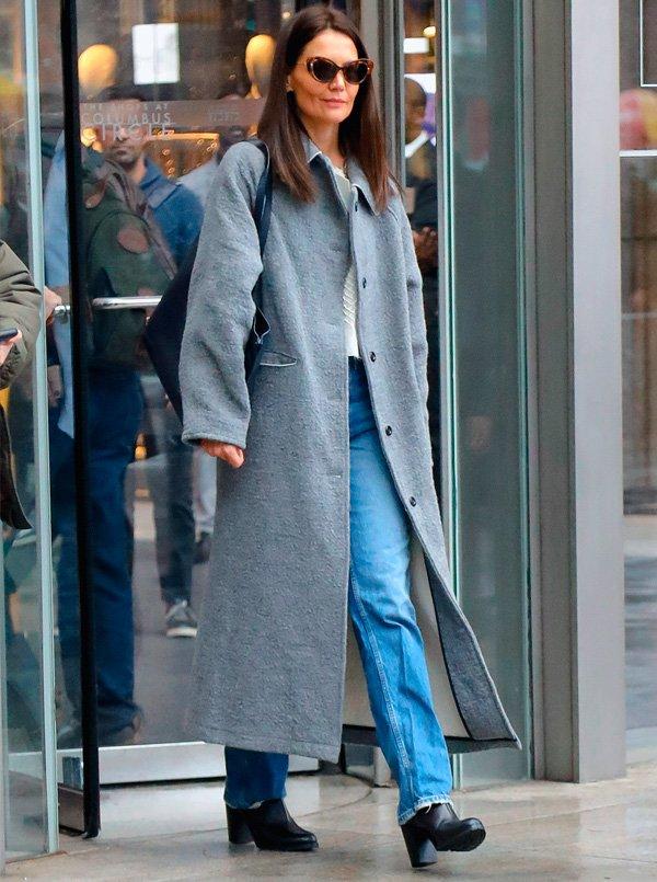 Katie Holmes - calca-jeans-reta - jeans - verão - street-style