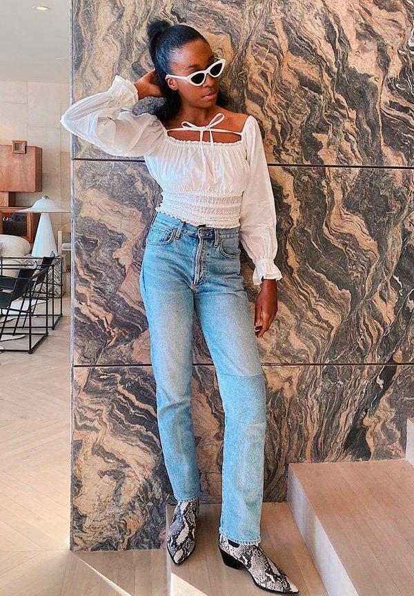 Chrissy Rutherford - calca-jeans-reta - jeans - verão - street-style