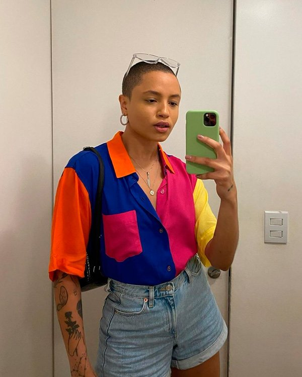 Cris Paladino - camisa - colorblocking - verão - street-style