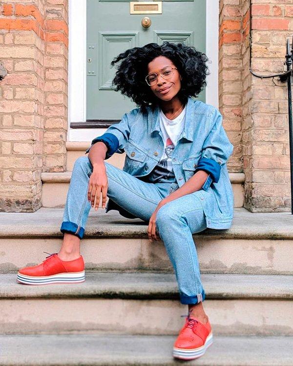Frédérique Harrel - all-jeans - jeans - verão - street-style