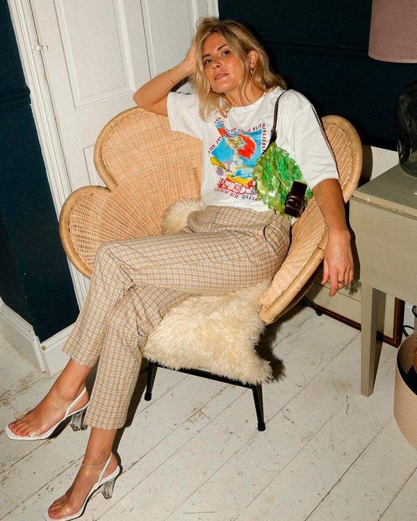 Lucy Williams - calca-xadrez - xadrez - verão - street-style