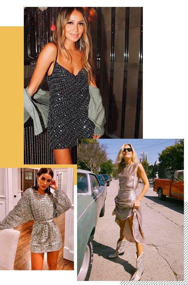Julie Sarinana, Camila Coelho, Lucy Williams - vestido - paete - verão - street-style