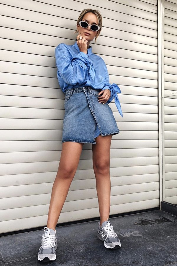Sacha Anne - saia jeans - saia jeans - verão - street style