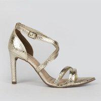 Sandália Dakota  Salto Fino Dourada