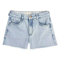 Shorts Jeans Cintura Alta Destroyed