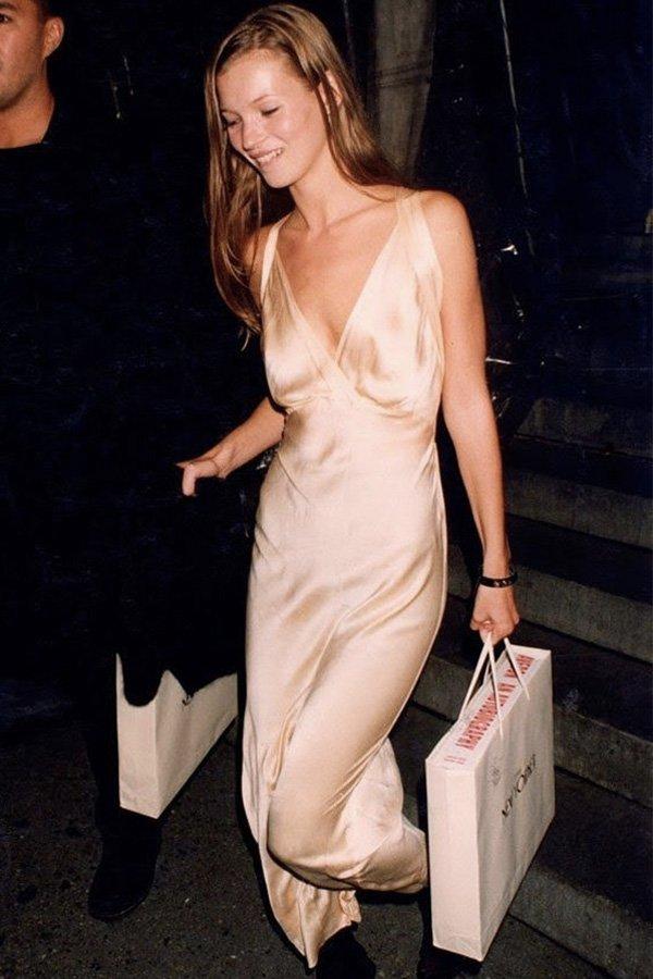 Kate Moss - tendências - slipdress - verão - street style