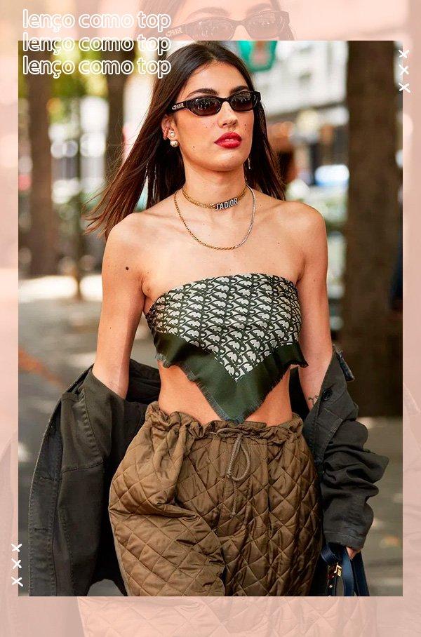 it-girl - lenço-como-top - lenço - verão - street-style