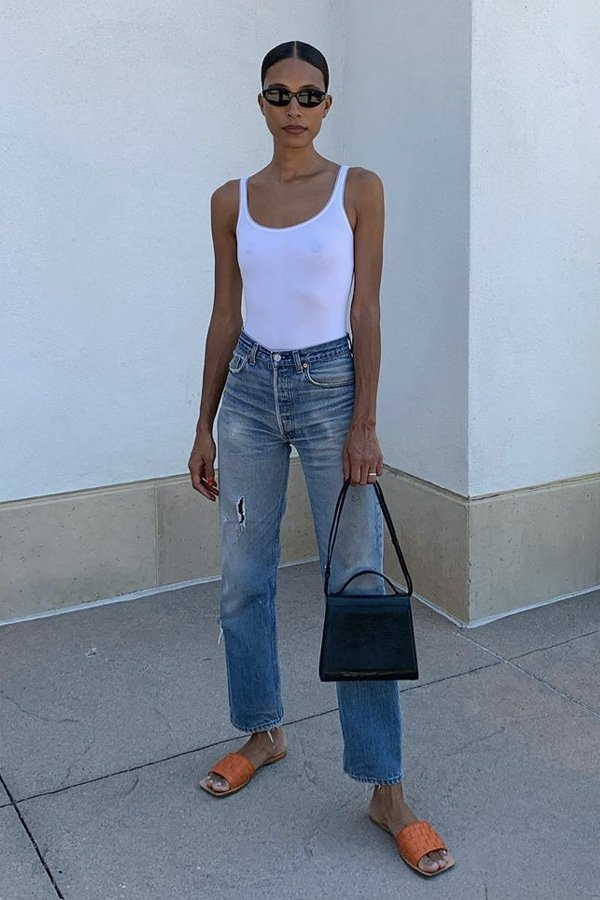 Tylynn Nguyen - jeans e flats - jeans e flats - verão - street style