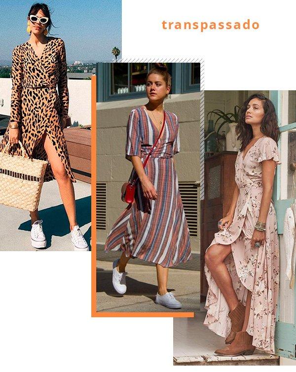 vestido - transpassado - looks - moda - tendencia
