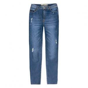 Calça Jeans Skinny Cintura Alta Destroyed