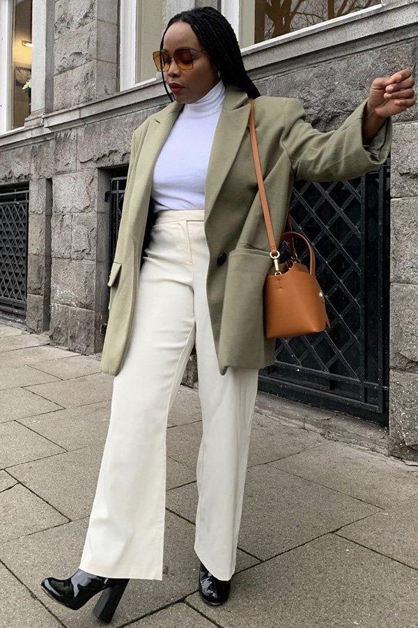 Ada Oguntodu - casaco verde - casaco - inverno - street style