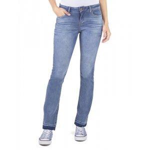 Calça Feminina Jeans Barra Desfeita