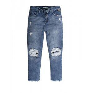 Calça Feminina Jeans Boycropped