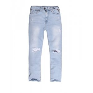 Calça Feminina Jeans Reta Cintura Alta