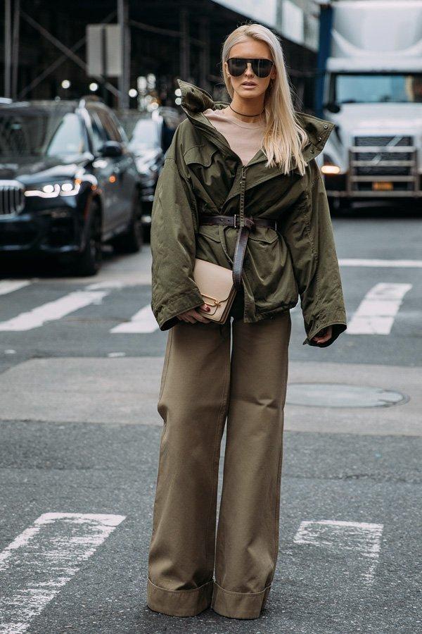 Kate Davidson Hudson - casaco verde - casaco - verão - street style