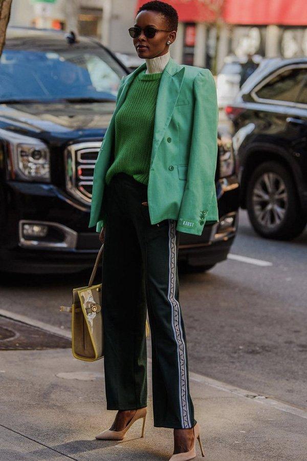 Flaviana Matata - casaco verde - casaco - inverno - street style