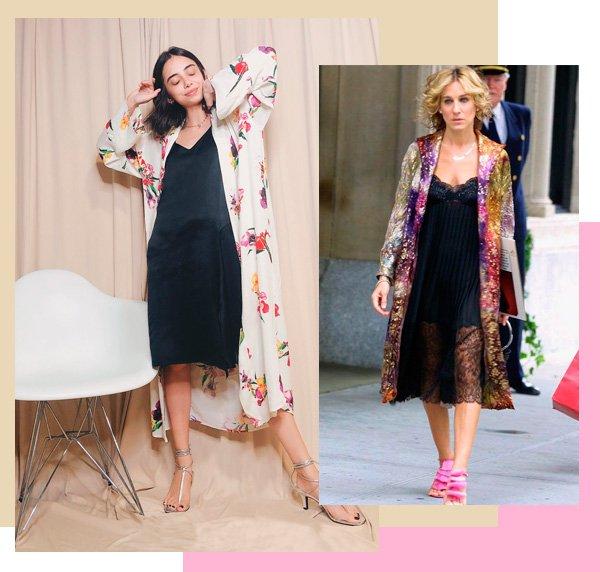 Sarah Jessica Parker - kimono - kimono - verão - street-style