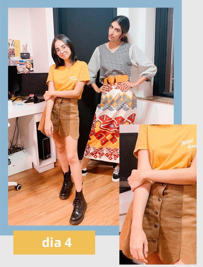 Giovana Marçon, Thai Bufrem - t-shirt - amarelo - verão - street-style