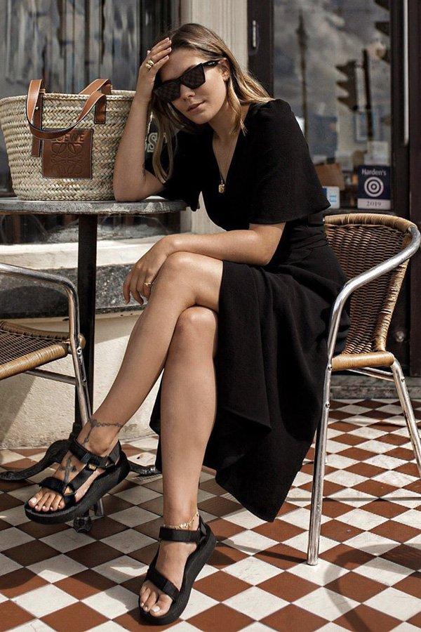 Hannah Crosskey - papete - sandália trendy - verão - street style
