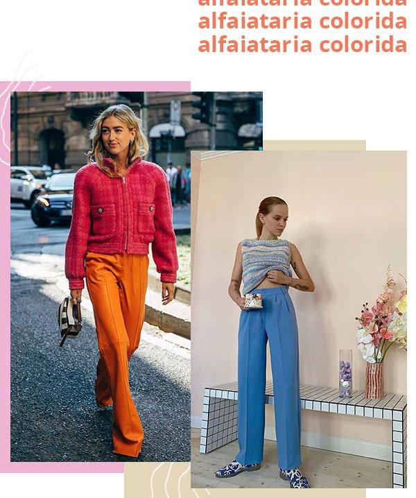 It girls - Alfaiataria colorida - Calça - Verão - Street Style