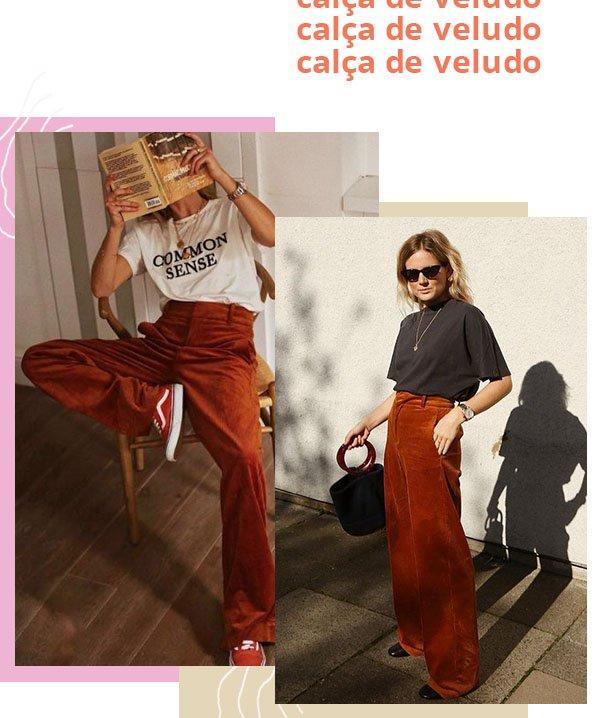 It girls - Calça de veludo - Calças - Verão - Street Style