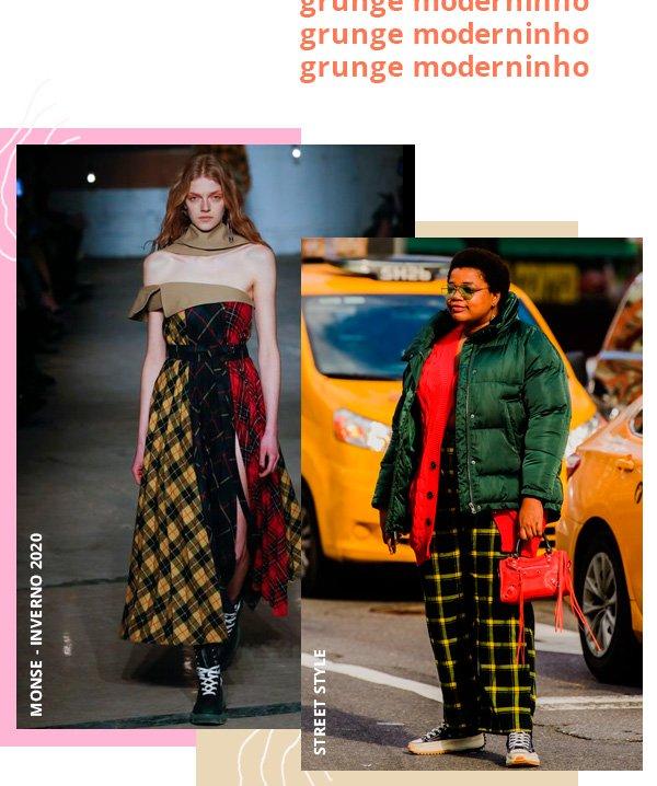 modelo - xadrez - grunge - inverno - street-style