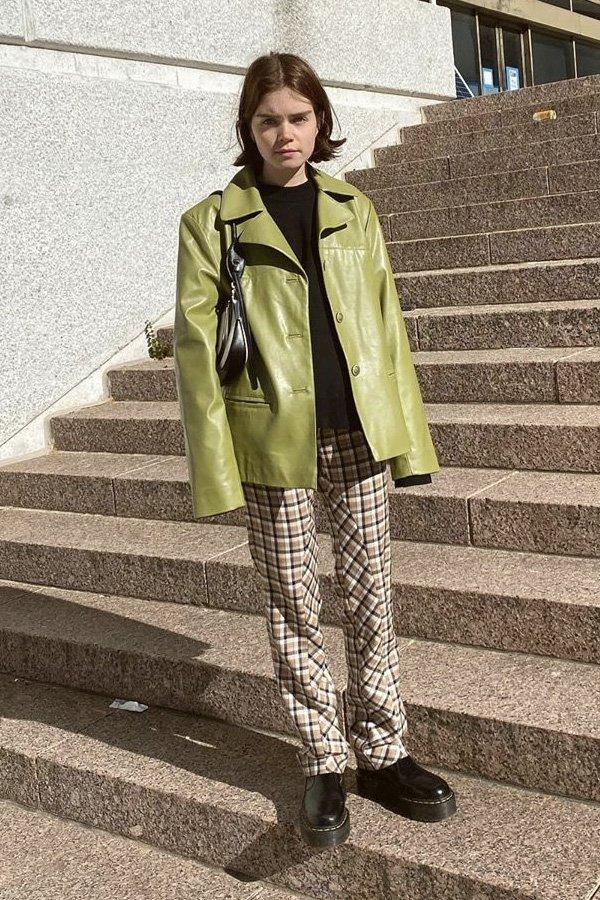 Reese Blutstein - casaco verde - casaco - inverno - street style