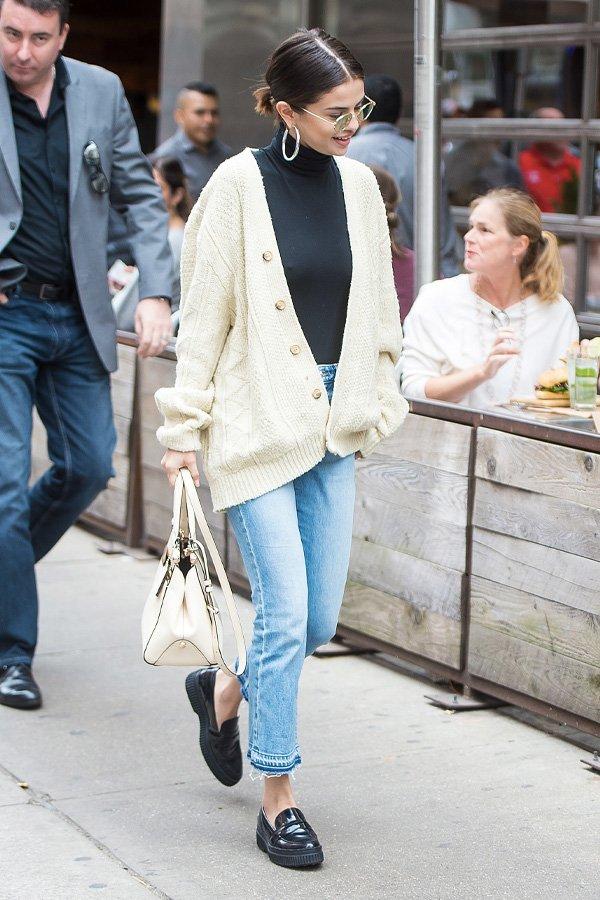 Selena Gomez - sapato - sapato - inverno - street style