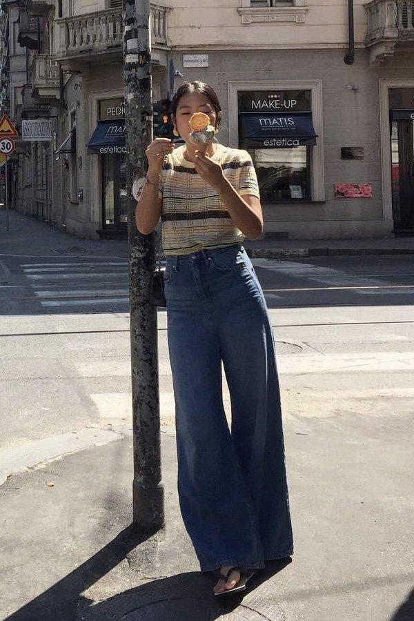 Stefany Park - pantalona jeans - jeans - verão - street style