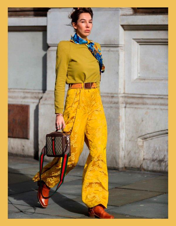 it-girl - amarelo - ton-sur-ton - verão - street-style