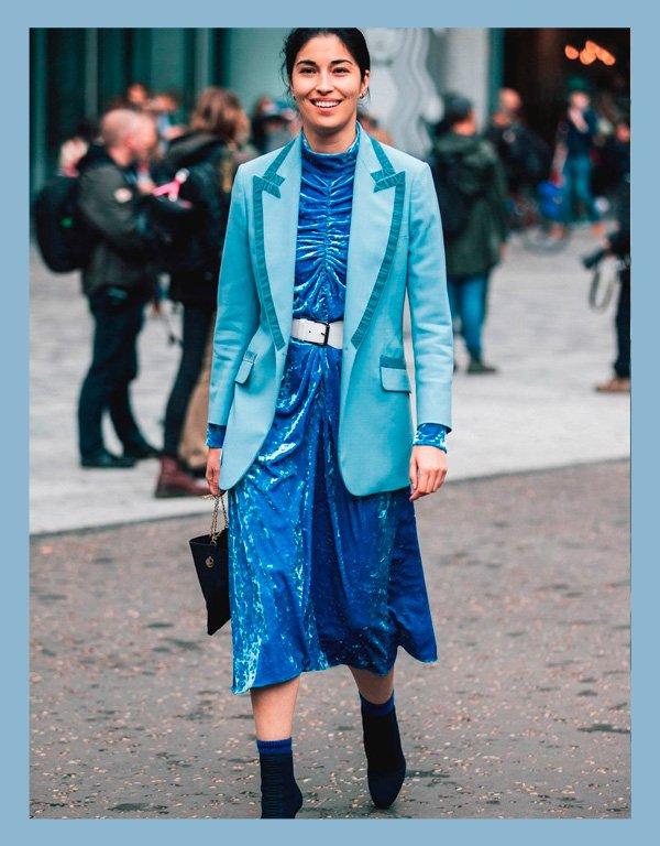 it-girl - azul - ton-sur-ton - verão - street-style