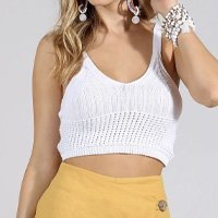TOP CROPPED TRICOT ALÇAS