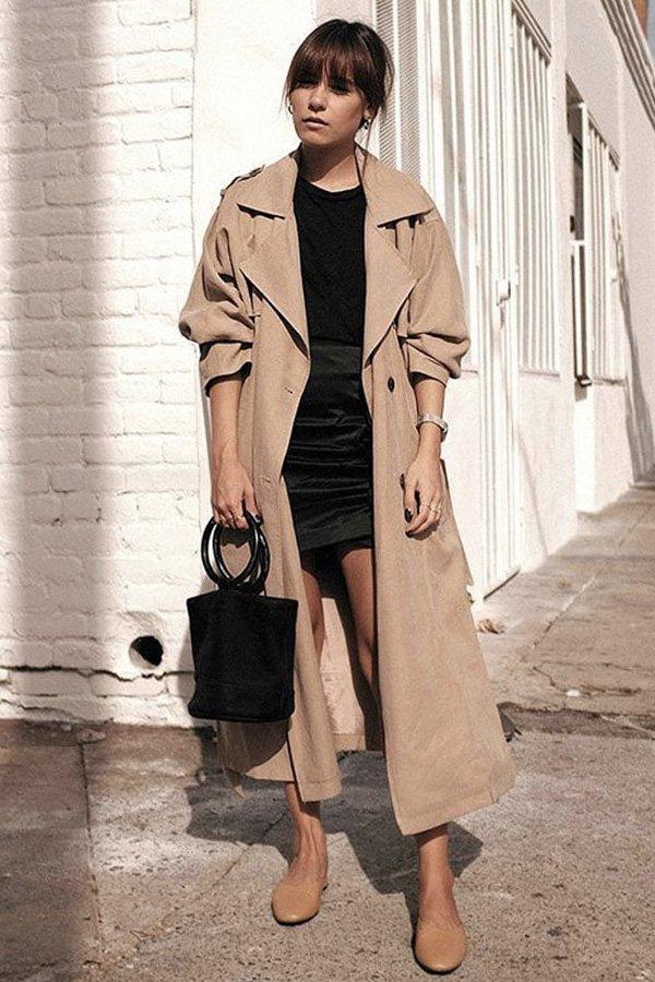 reprodução pinterest - casaco - trench coat - verão - street style