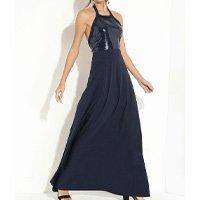 Quintess - Vestido Longo Azul com Elástico